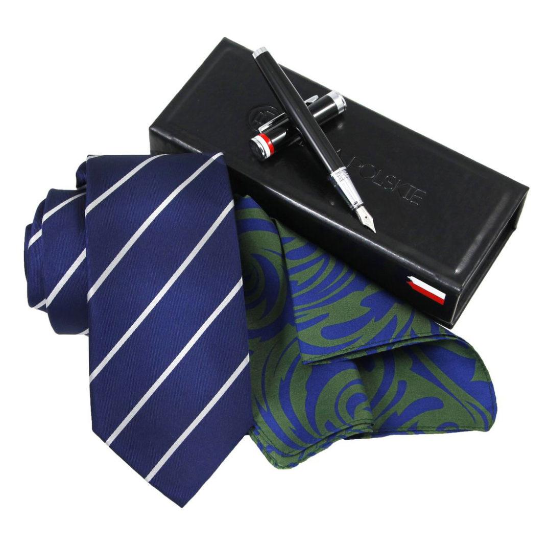 Krawat i poszetka jedwabna | Produkty Polskie