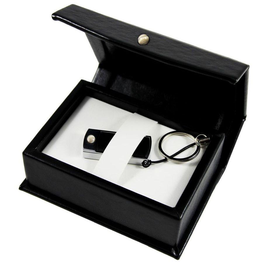 Pamięć USB z krzemieniem pasiastym | Etui zdobione krzemieniem