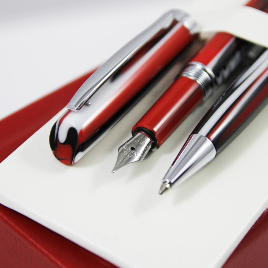 Czerwone akrylowe pióro | Czerwony długopis z akrylu